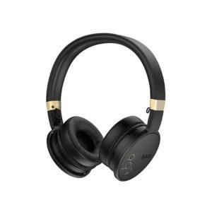 Ασύρματα Ακουστικά Stereo Hoco W26 Enjoyment V5.0 Μαύρα με 300mA, Μικρόφωνο, MicroSD Card και AUX