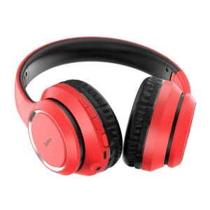 Ασύρματα ακουστικά κεφαλής Hoco W28 Journey V5.0 Κόκκινα με 250mAh, Μικρόφωνο και AUX