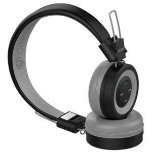 Ασύρματα ακουστικά Stereo CELEBRAT A4-GY, 40mm, μαύρο-γκρι