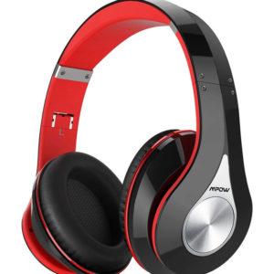 Ασύρματα ακουστικά κεφαλής MPOW 059, 40mm, μαύρο-κόκκινο