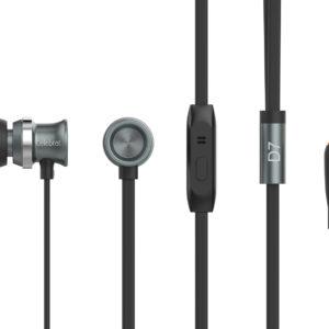Ακουστικά Hands Free CELEBRAT με μικρόφωνο D7, on/off, 10mm, 1.2m, μαύρα