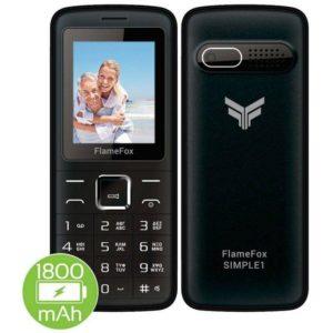"""Κινητό με πλήκτρα FlameFox Simple1 (Dual Sim) 1.77"""" με Bluetooth, Κάμερα, Ραδιόφωνο, Φακό"""