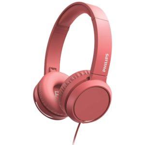 Ακουστικά Stereo Philips On-Ear Stereo 3.5mm TAH4105RD/00 Κόκκινο με Μικρόφωνο, Πλήκτρο Απάντησης
